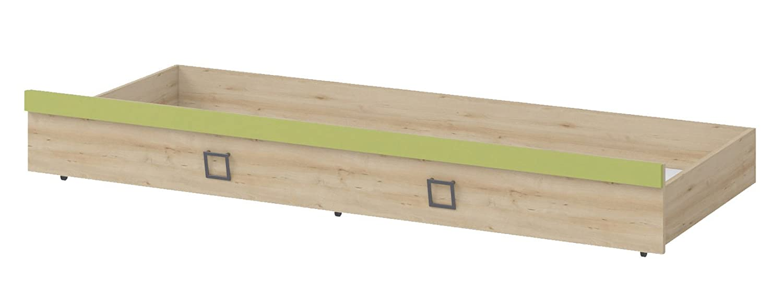 Bettkasten für Bett Benjamin, Farbe: Buche / Olive - 80 x 190 cm (B x L)