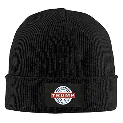 Unisex Trump Make America Great Again Acrylic Slouchy Hat Black