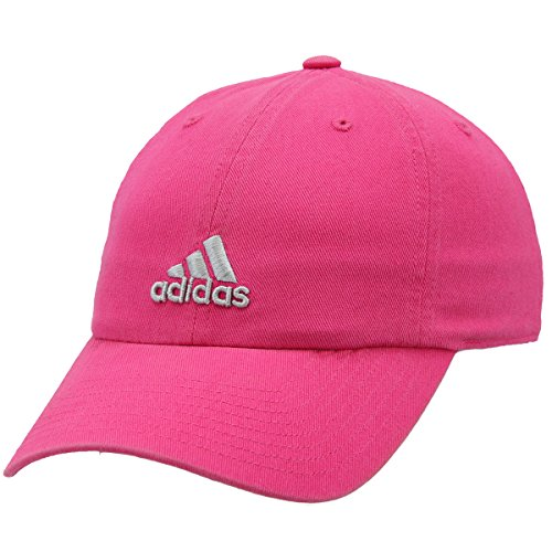 (adidas Women's Saturday Relaxed Adjustable Cap, Shock Pink/Clear Grey, One Size)
