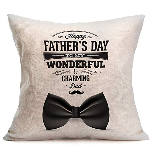 Littay Pillowcase 17inch x 17inch,Happy Father Day Sofa Bed Home Decoration Festival Pillow Case Cushion Cover -