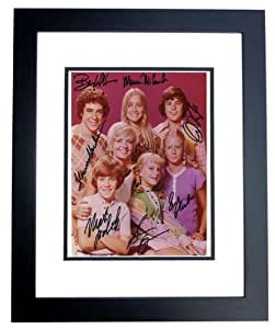 Mike McCormick Signed Picture - The Brady Bunch CAST 8x10 BLACK CUSTOM FRAMED Florence Henderson Barry Williams Maureen Lookinland Susan Olsen Christopher Knight Eve Plumb
