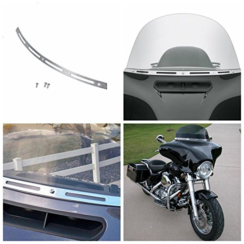 (INNOGLOW Slotted Windshield Trim For Harley Electra Street Glide Touring Bike 1996-2013)
