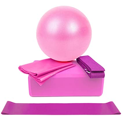 banxia 5 Pieces Yoga Equipment Set Yoga Ball Exercise ...