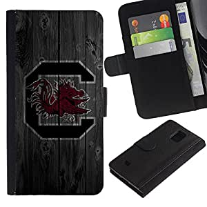 UNIQCASE - Samsung Galaxy S5 Mini, SM-G800, NOT S5 REGULAR! - South Carolina Cocks Football - Cuero PU Delgado caso cubierta Shell Armor Funda Case Cover