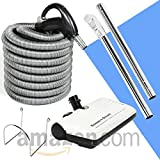 30' Hose Kit with Beam Central Vacuum Electric Powerhead Sweep N Groom Rugmaster
