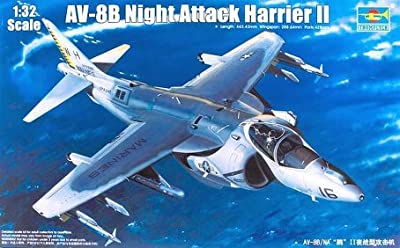 Trumpeter 1/32 AV8B Harrier II Night Attack Aircraft Model Kit