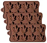 Silicone Candy Mold - Korlon Chocolate Gummy Molds Ice Cube Trays for Party Gummies Cupcake Toppers Ice Soap Chocolate Cookies Butter or Party Novelty Gift, Pack of 3