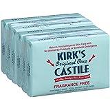 Kirk's Castile: Coco Castile Bar Soap, Fragrance Free 4 oz (6 pack)