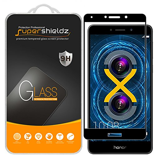 [2-Pack] Supershieldz for Huawei Honor 6X Tempered Glass Screen Protector, [Full Screen...