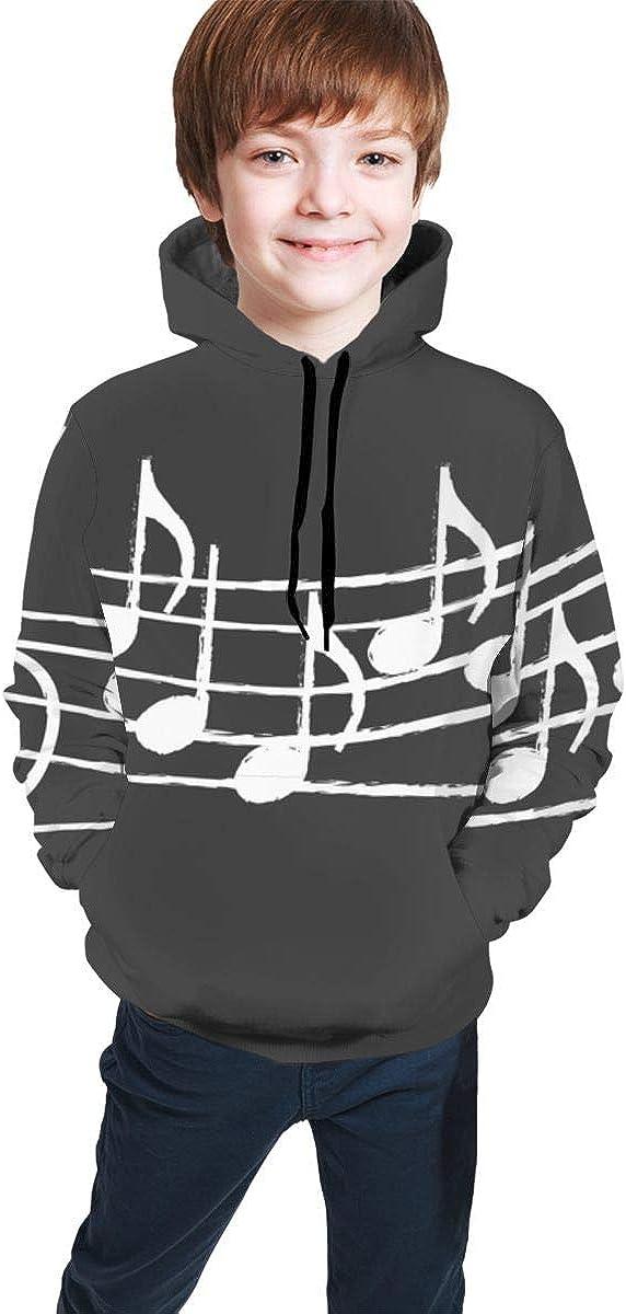 Music Notes On Blackboard Men 3D Print Pullover Hoodie Sweatshirt with Front Pocket
