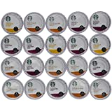 20 Count Variety Pack of Starbucks Coffee Single Cups for Keurig Brewer