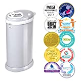 The Ubbi Steel Diaper Pail is made of powder-coated steel to achieve maximum odor control. It is equipped with rubber seals that are strategically designed to lock in odors as well as a sliding lid that minimizes air disruption, keeping the smell ins...