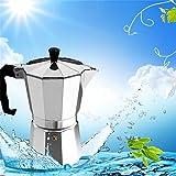 VT BigHome Coffee Maker Mocha Percolator Pot 3 cup/6 cup Aluminum 8-Angle Mocha Pot Espresso Stove Top Coffee Maker Mocha