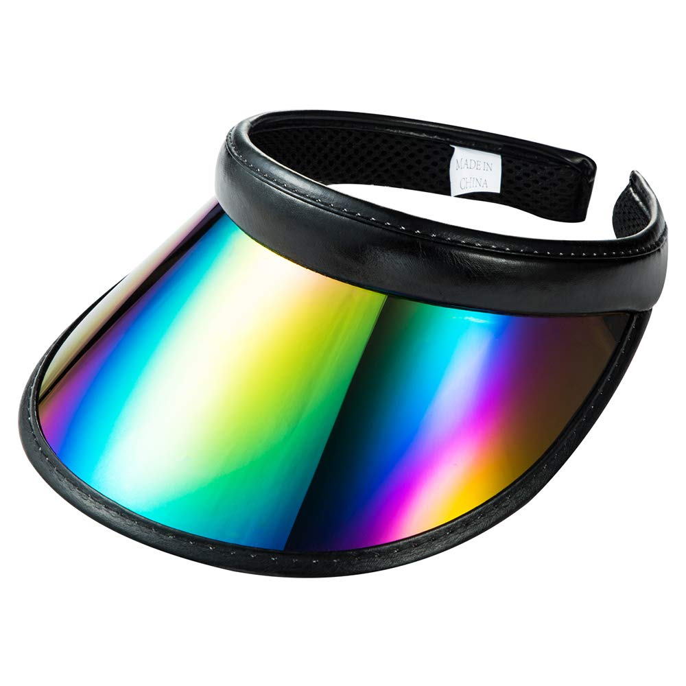 Sun Visor Hats Caps Women Men Kids UV Protection Color Reflective Outdoor Sport