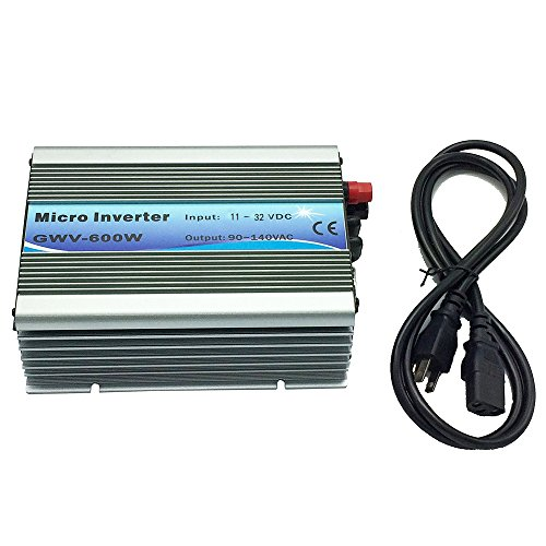 iMeshbean 600W 600 Watt Grid Tie Inverter MPPT Accept 10.8v-30 V DC/120v AC , Solar Power Pure Sine Wave USA Seller