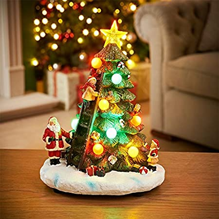 light up musical christmas tree led resin ornament santa ladders