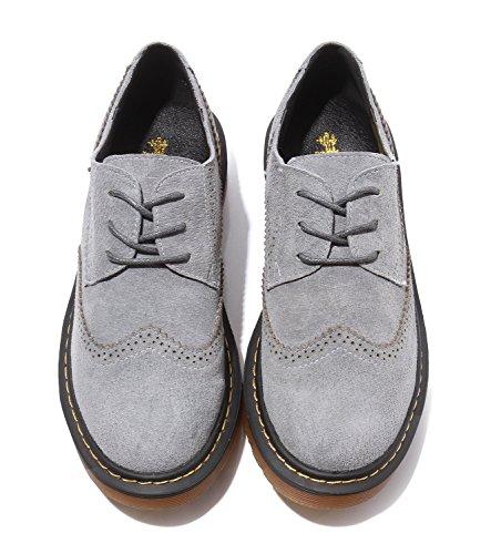 Lacets Grey Ville Chaussures à Femme de Minotta pour Sueded wI7a8