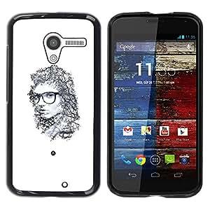 Be Good Phone Accessory // Dura Cáscara cubierta Protectora Caso Carcasa Funda de Protección para Motorola Moto X 1 1st GEN I XT1058 XT1053 XT1052 XT1056 XT1060 XT1055 // Portrait E