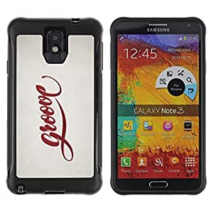 "Pulsar iFace Series Tpu silicona Carcasa Funda Case para SAMSUNG Galaxy Note 3 III / N9000 / N9005 , Groove Cita Slogan Sign Estilo Insignia Vida"""