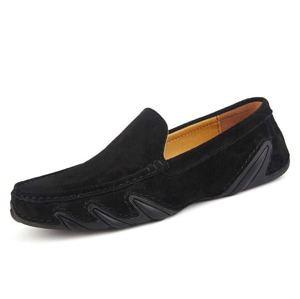 Pump Slip On Loafer Hombres Verano Transpirable Zapatos De Cuero Zapatos De Pedal Zapatos De Conducción Zapatos De Conducción Eu Tamaño 38-44 ( Color : Black , Size : 38 ) 38|Black