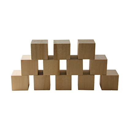 Amazoncom 10pcs 1 Inch Wood Cubes Natural Unfinished Craft Wood