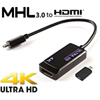 HTC One A9 MHL 3.0 HDTV Adapter! Easily Connects to your HDTV up to 4K using the official adapter! [RETAIL PACKAGING]