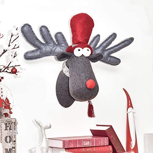 2 Packung Rudolf das Rentier Kopf Kugeln Baumdekoration