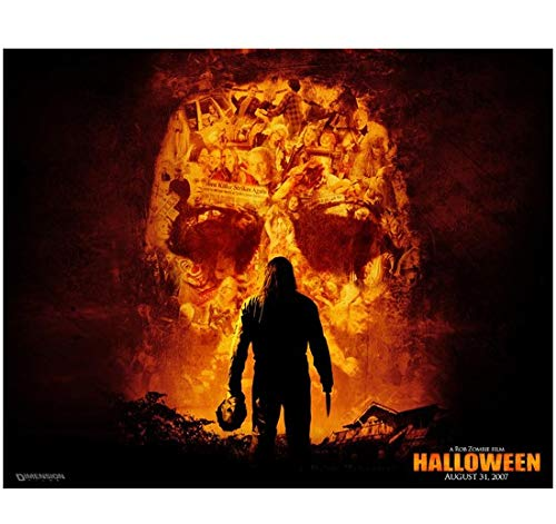 Halloween Rob Zombie holding Michael Myers mask promo 8 x 10 Inch -