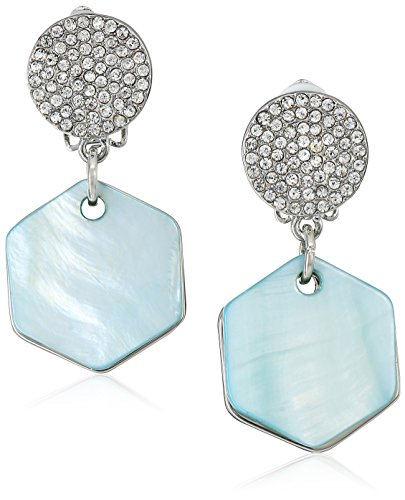 t-tahari-pave-top-with-hexagon-mother-of-pearl-disc-drop-silver-blue-clip-earrings