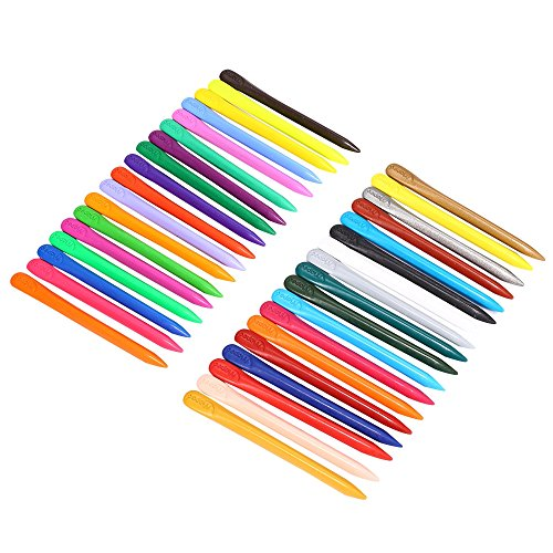 Maped 36 Colors Bar Plastic Crayon for Daily Using with Box