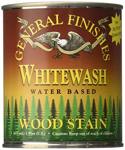General Finishes WIPT Water Base Wood Stain, 1 pint, Whit...