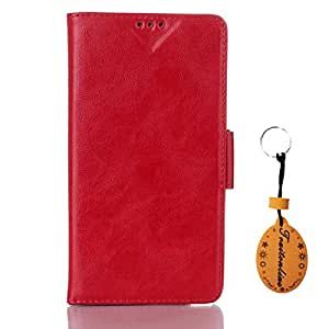 Traitonline Red PU Leather Case Back Cover For Samsung Galaxy Grand 2 G7106 Protective Skin Shell Pouch Folio Cover