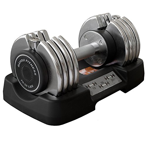 Bayou Fitness Adjustable Dumbbell (50 Pounds)