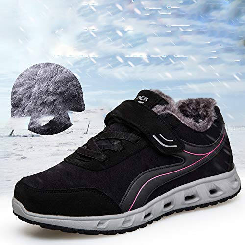 And aged slip Push Women's Shoes Cotton Walking Shoes Black Autumn Girl Winter Non Main Middle Plus Mother Outdoor Elderly Y7qCp5