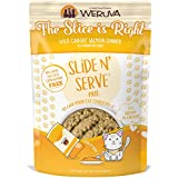 Weruva Slide N' Serve Paté Wet Cat Food, The Slice is Right Wild Caught Salmon Dinner, 2.8oz Pouch (Pack of 12)
