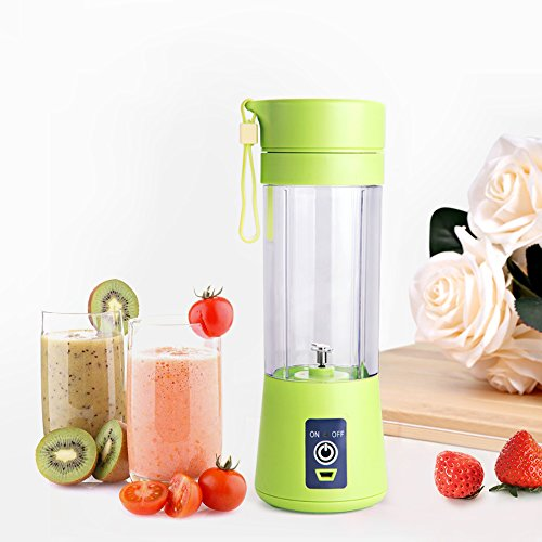 Big Save! E-UNIONA Rechargeable Household Portable Mini Fruit Juice Extractor,USB Electric Safety Ju...