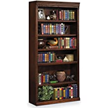 "Martin Furniture Huntington Oxford 72"" Open Bookcase, Burnish Finish, Fully Assembled"