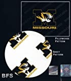 The Northwest Company Missouri Tigers NCAA X-Long Twin Sheet Set with Pillow Case
