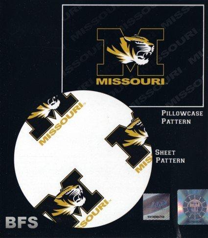 Missouri Tigers NCAA X-Long Twin Sheet Set with Pillow Case