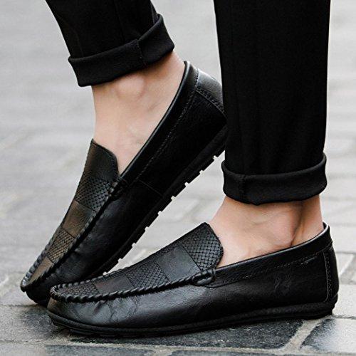 Casuale Cavo con Slacker Piatte Piselli Nero Classici Punta Casual Nuovo Moda Confortevole Uomo Appartamento Traspirante Stile Sneakers Scarpe Rotonda SOMESUN 7wPqvx