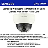 Samsung 4MP Indoor Dome Network Camera QND-7010R