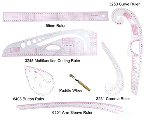 Free Sewing Patterns Shirts - Stormshopping 6 Stlye Plastic Fashion Metric Ruler Set French Curve Pattern Grading Rulers Styling Design Craft Sewing Tool Set for DIY Clothing