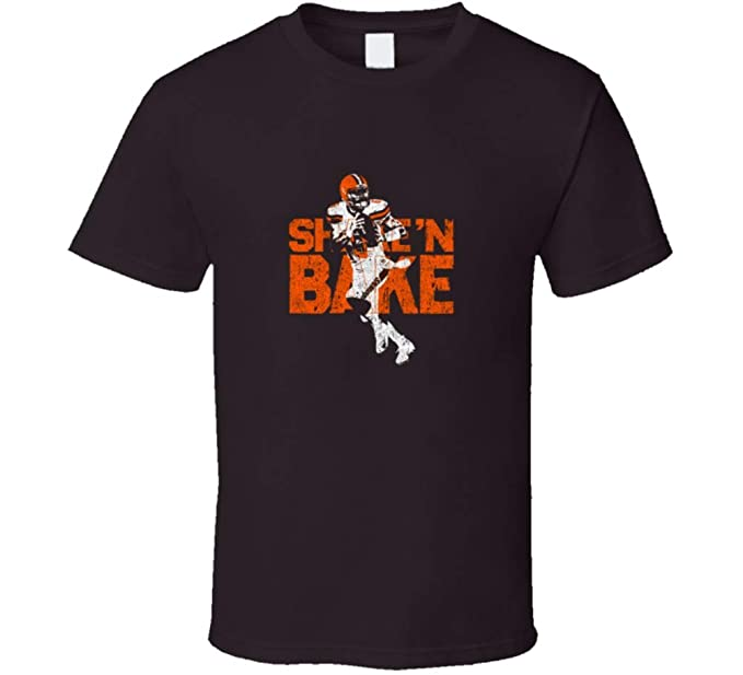 f2e663bd Baker Mayfield Shake N Bake Qb Cleveland Football V1 T Shirt S Dark  Chocolate