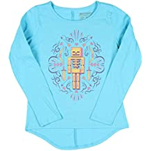 Skeleton Minecraft Girls' Long Sleeve Crew Neck Graphic Tee