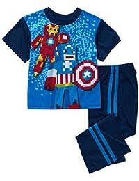 Avengers Pixelated Boys 2pc Pajama Set Captain America Hulk Spiderman