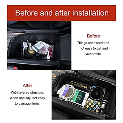 JSCARLIFE Car Center Console Organizer Tray, Armrest Box Secondary Storage Compatible for 2020-2020 Camry: Automotive