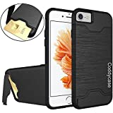 iPhone 7 Case,iPhone 7 Cases,iPhone 7 Cover,Coddycase Protective Card Slot Holder Hybrid Cover with Kickstand...