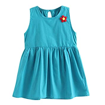 2cc20cd95 Amazon.com  EnjoCho 12M-5T Kids Baby Girls Flower Casual Princess ...