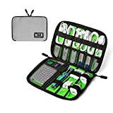 BAGSMART Electronic Organizer Travel Cable Organizer Case Portable Electronics Accessories Bag for Charging Cords, USB, Light Grey