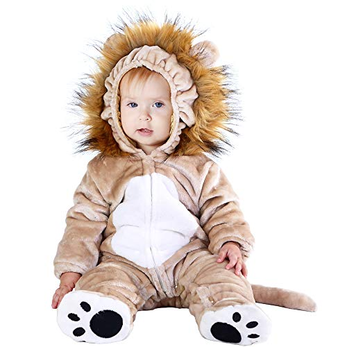 Girl Lion Costumes (Hsctek Baby Lion Costume, Kids and Baby Costumes 12 18 Months, Infant Toddler Halloween Costumes for Girls)